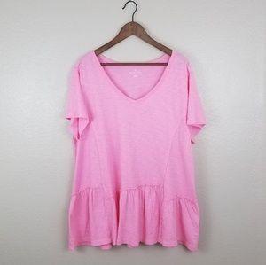 NWOT Pink Caslon top